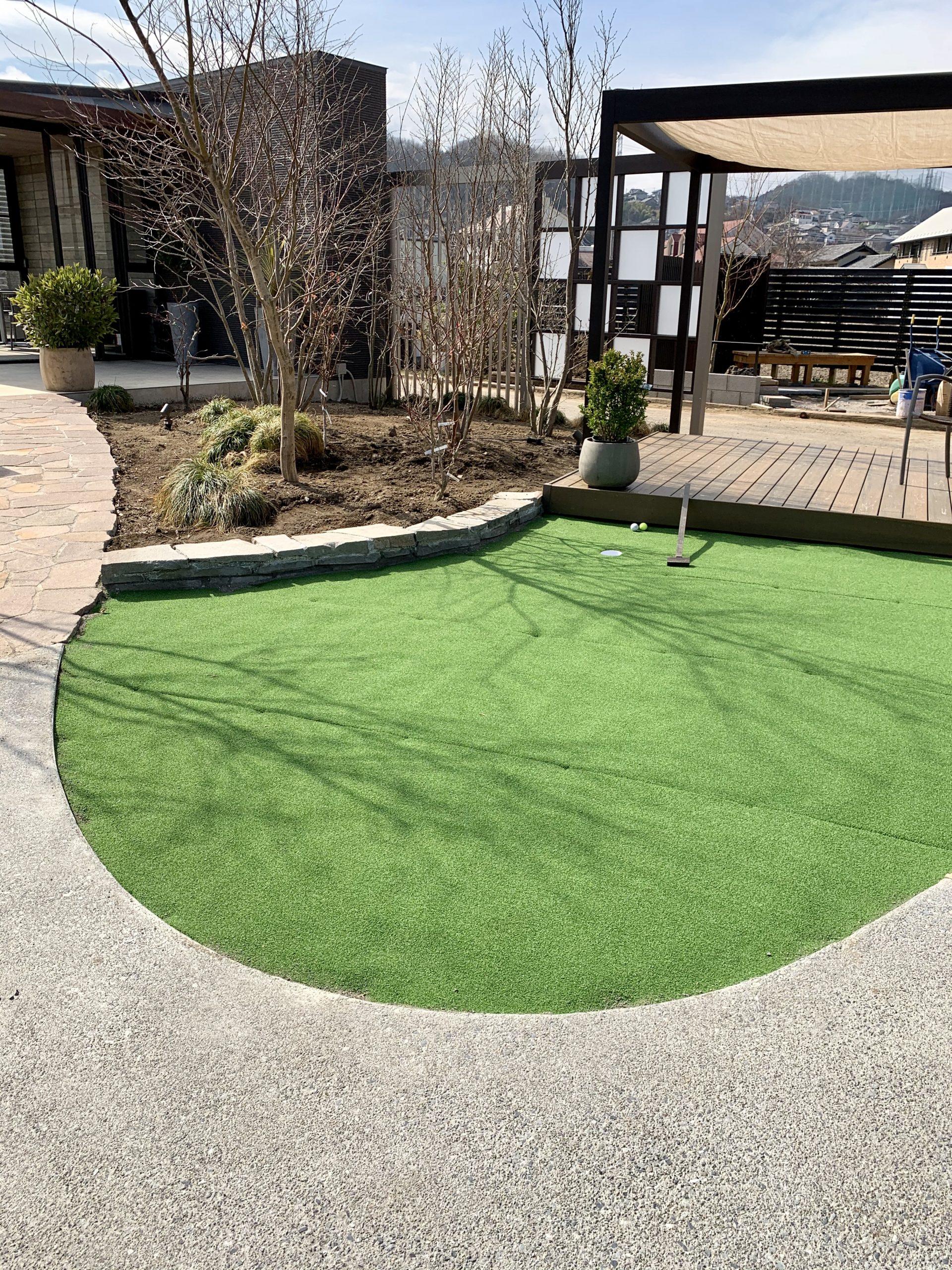 カーブが美しい人工芝ゾーン