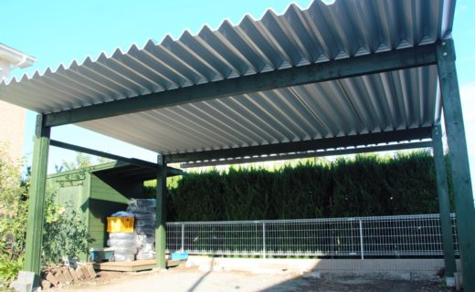 カーポート 緑 オリジナル 外構 エクステリア 庭
