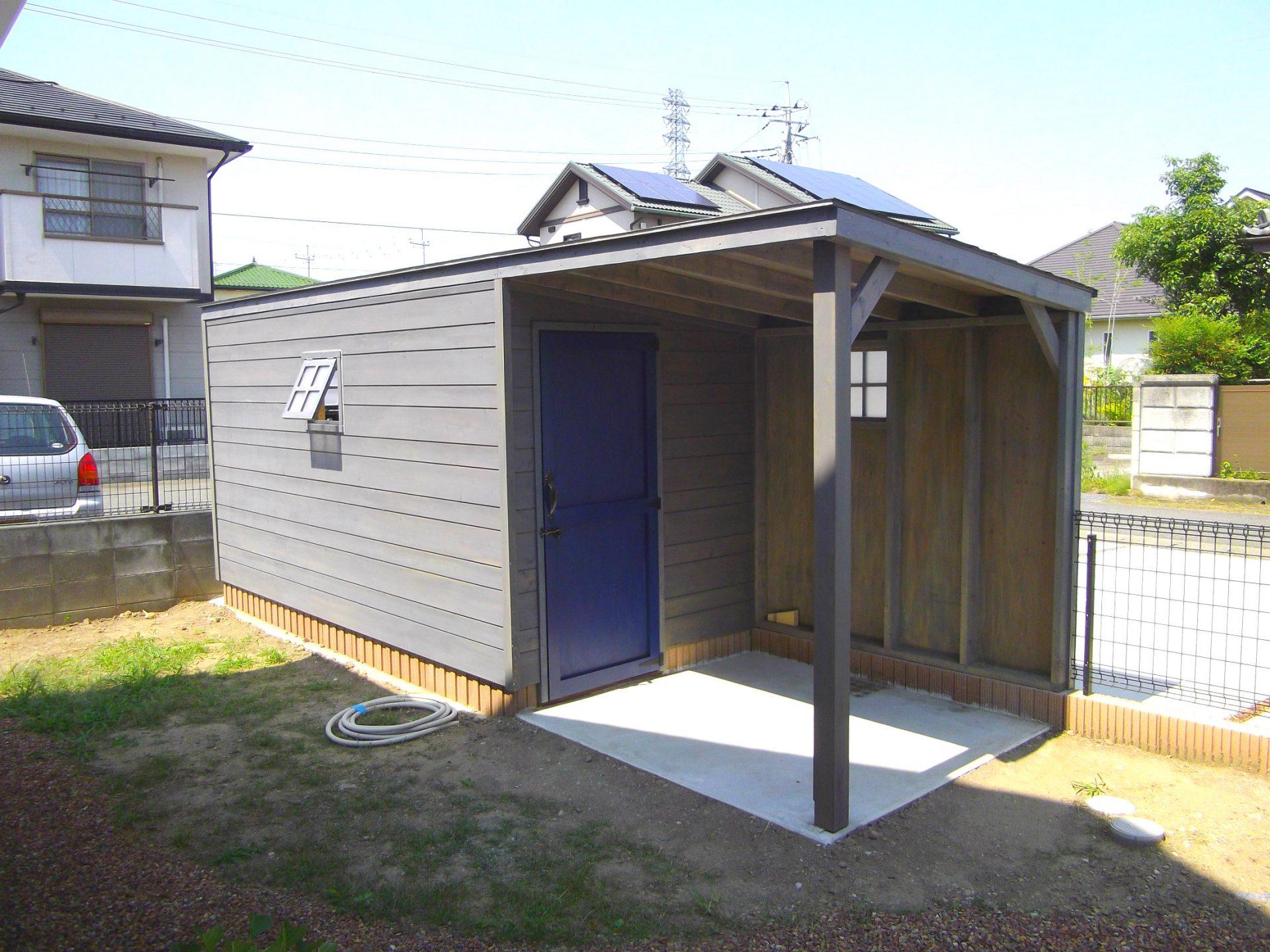 物置 作業場 小屋 ナチュラル 木製 オーダーメイド 自然素材