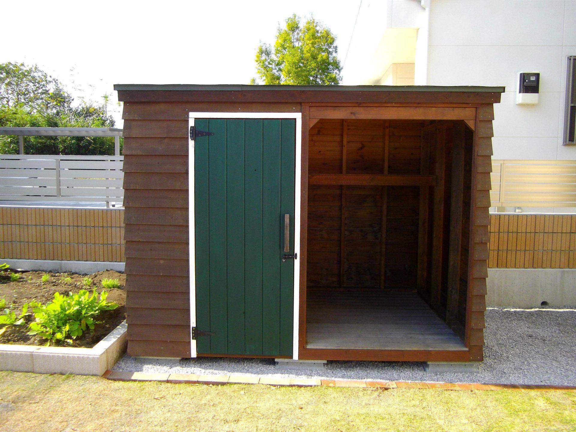 物置 タイヤ置き場 小屋 ナチュラル 木製 オーダーメイド 自然素材