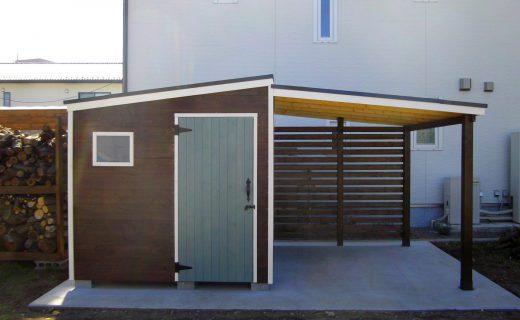 物置 収納 薪 テラス タイヤ置き場 小屋 ナチュラル 木製 オーダーメイド 自然素材
