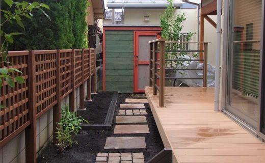 狭い庭を効率よく活用